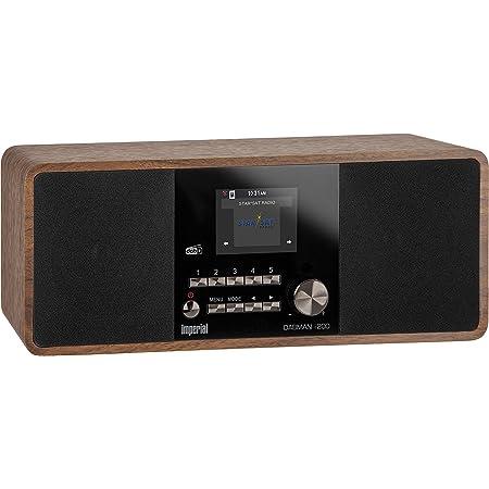 Imperial 22 230 00 Dabman I200 Internet Dab Radio Stereo Sound Ukw Wlan Lan Aux In Line Out Kopfhörer Ausgang Inkl Netzteil Braun Heimkino Tv Video