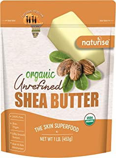 Naturise Shea Butter Raw Organic Unrefined Ivory 16 oz (1 LB), Highest Grade African Shea Butter, Great for DIY Skincare P...