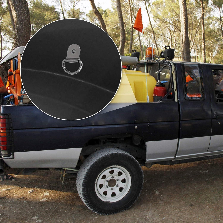 X AUTOHAUX 50pcs Black D Shape Tie Down Anchors Lashing Rings for Car Truck Trailer Cargo RV Boats