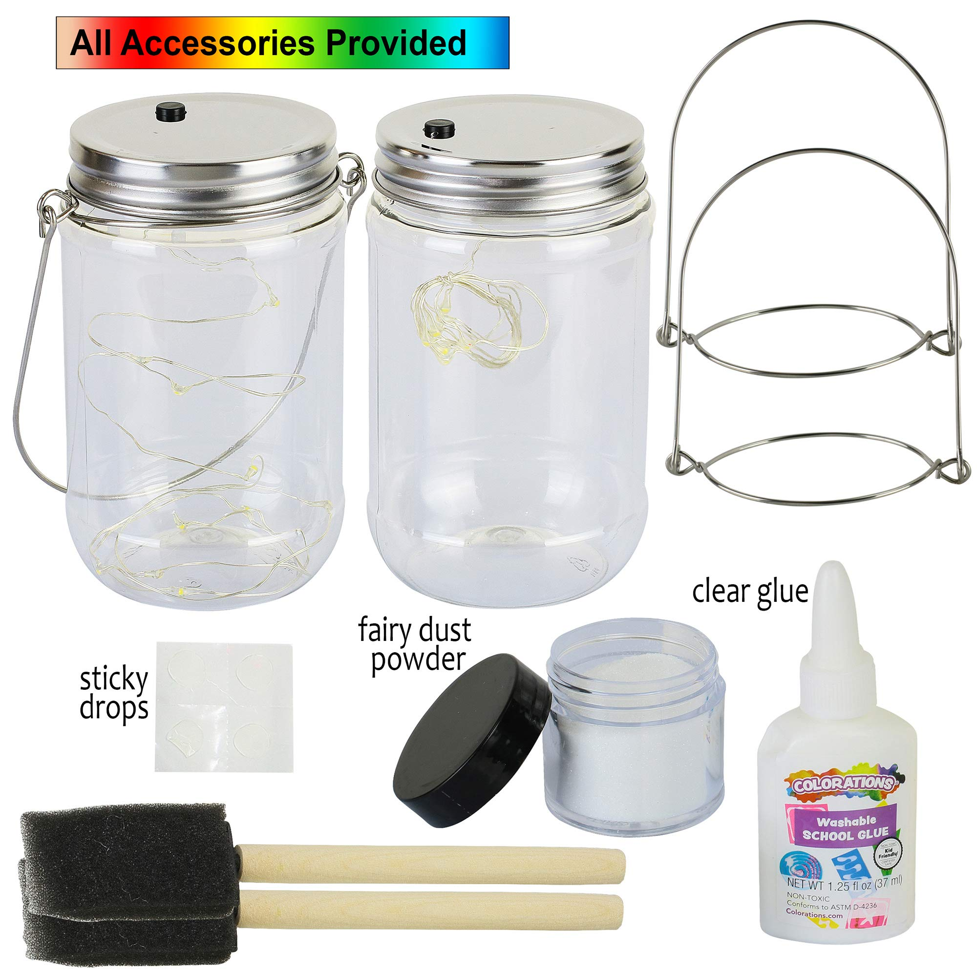 Fairy Jar Lantern Nightlight Arts and Craft Kit - Craft Project for Kids - Gift for Girls Ages 6 7 8 9 10 Years and Up (Fairy Lantern)