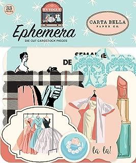 Carta Bella Paper Company CBEV103024 En Vogue Ephemera,粉色,*,青色,黑色