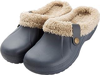 CELANDA Mens Womens Warm Lined Garden Clogs Waterproof Slippers Ladies Mules Winter House Slippers Anti-Slip Work Shoes In...