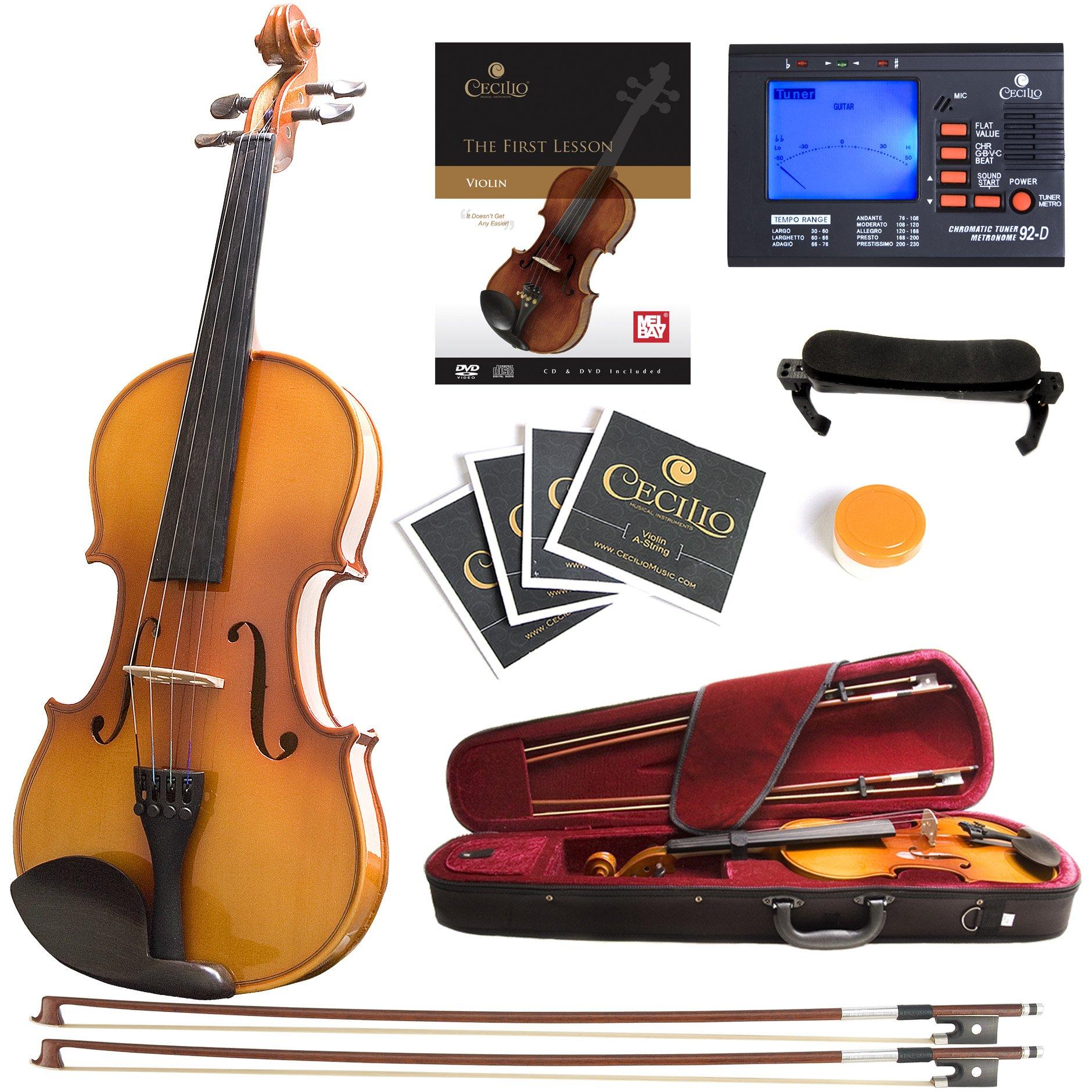 Mendini Fitted Violin Shoulder Strings