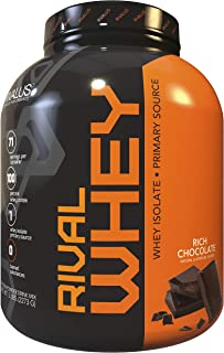 Rivalus Rivalwhey – Rich Chocolate 5lb  - 100% Whey Protein, Whey Protein Isolate Primary Source, Clean Nutritional Profile, BCAAs, No Banned Substances, Made in USA