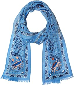 Sea Life Cotton Scarf