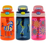Contigo AUTOSPOUT Kids, 3 Pack – Straw Gizmo Flip, 14oz – Leak and Spill Proof Bottles, Ideal...