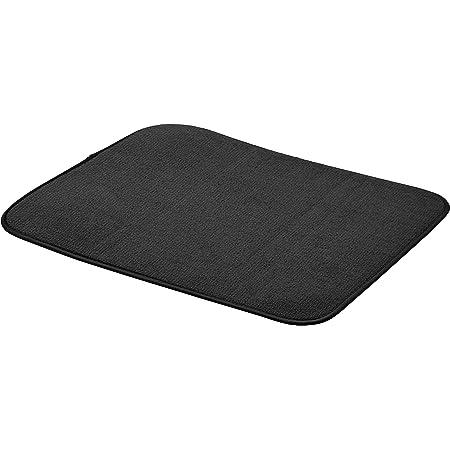 """Amazon Basics Tapis d'égouttoir, Noir, 41x46cm / 16x18"""", Lot de 4"""