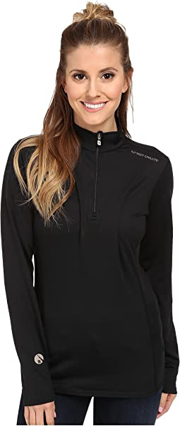 Hot Chillys - Micro-Elite Chamois 8K Solid Zip-T