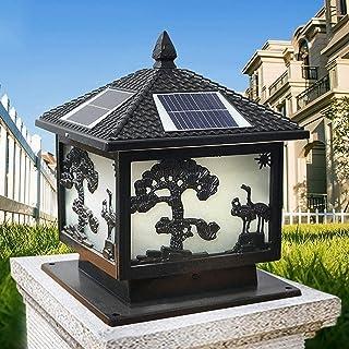 SMLZV Column Headlight,Waterproof Garden Solar Light,Decking & Patio Lighting,Outdoor Lighting Accessories,for Courtyard V...