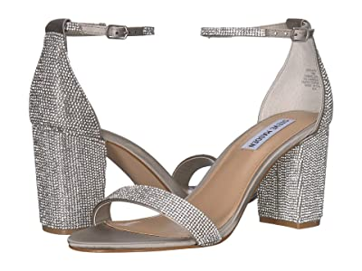 Steve Madden Exclusive Declair Block Heeled Sandal (Rhinestone) High Heels