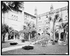 Vintography 8 x 10 Ready to Frame Pro Photo of The Court Alcazar Hotel St Augustine FLA 1904 Detriot Publishing 44a