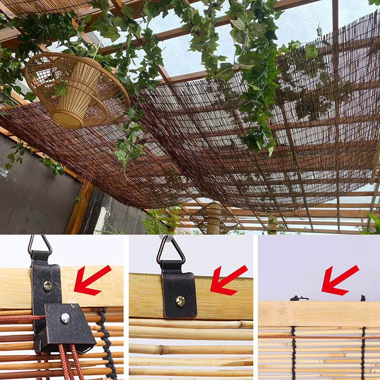 GKHD Natural Bamboo Shades for Windows, Vintage Decorated Roman