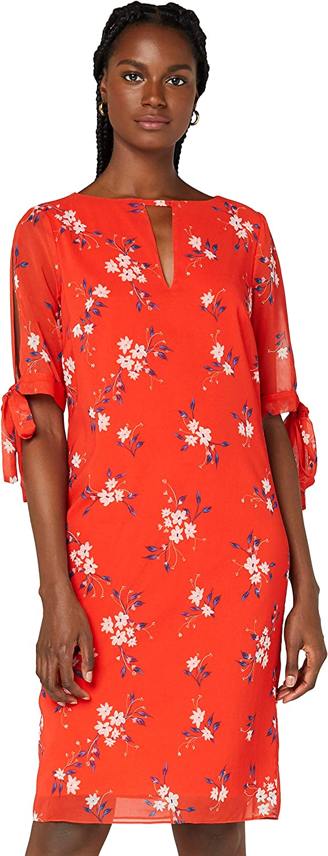 TRUTH & FABLE Women's Sheer Sleeve Tunic Dress