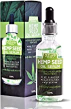 Hemp Seed Moisturizing Oil Serum – Fights Acne | Wrinkle, Fine Line & Acne Scar Reducing | Rejuvenates and Protects Face – 50ml