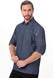 Chef Works Men's Detroit Long Sleeve Denim Shirt (SKL001)