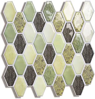 Yuyangnengy Peel and Stick Tile Backsplash,Self Adhesive Wall Tile for Kitchen Bathroom,5 Pack - 10