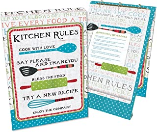 Lang 2016004 Kitchen Rules Vertical Recipe Card Album by Susan Winget, Assorted