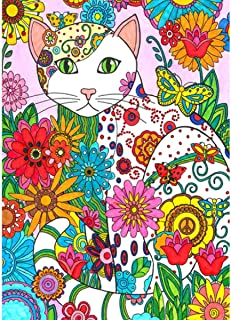 MXJSUA DIY 5D Diamond Painting Kits de perforación Redondos completos Rhinestone Picture Art Craft para decoración de la Pared del hogar 30x40 cm Abstract Cat