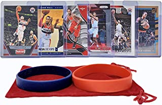 Washington Wizards Basketball Cards: Bradley Beal, John Wall, Trevor Ariza, Bobby Portis, Jeff Green, Dwight Howard ASSORTED Basketball Trading Card and Wristbands Bundle