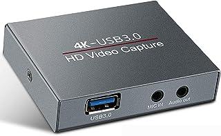 Eituesy キャプチャーボード 4K HDMI USB3.0 ビデオキャプチャカード ゲーム 1080P 60FPS HD 画質 Windows/Linux/Mac OSX 対応 PC / PS3 /PS4 / Xbox/Switch/Wi...