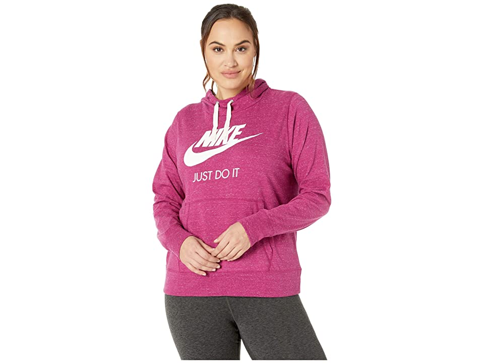 Nike Plus Size Sportswear Gym Vintage Hoodie HBR (True Berry/Sail) Women