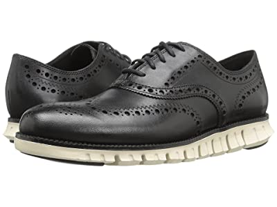Cole Haan Zerogrand Wing Ox (Black Closed Holes/White) Men