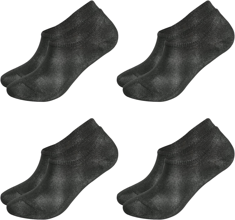 BampooPanPa 4-Pack Light Casual Non Slip No-Show Ankle Bamboo Socks