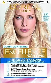 L 'Oréal Paris excelencia crema color del pelo ligero Natural rubio número 01
