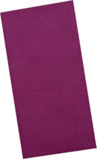 Plum Napkins | Linen Feel Guest Disposable Cloth Like Paper Dinner Napkins | Hand Towels | Soft, Absorbent, Paper Hand Napkins for Kitchen, Bathroom, Parties, Weddings, Dinners Or Events | 50 Pack
