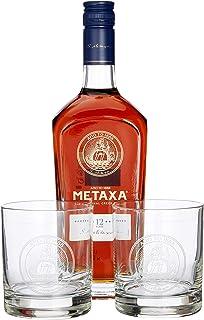 Metaxa 12 Sterne im Geschenkset mit 2 Gläsern 1 x 0.7 l