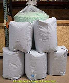 Bean Products Bean Bag Filling 10 Cubic ft. 283 liters Virgin Recycled New Eco Friendly Polystyrene EPS Bead beanbag Refill Made in USA