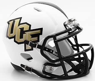 UCF Central Florida Knights White Matte Finish Riddell Speed Mini Football Helmet - New in Riddell Box