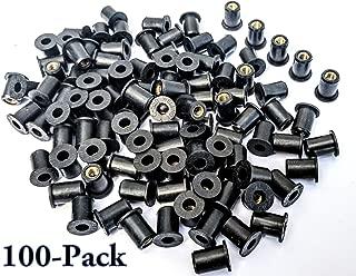 Rubber Well Nuts w/ M5 Brass Insert 5mm Metric wellnuts Motorcycle Windscreen (Pack of 100)