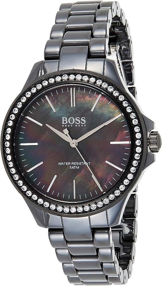 Hugo boss orologio donna con cinturino in ceramica analogico quarzo 1502456