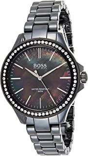 Hugo Boss Womens Quartz Watch, Analog Display And Ceramic Strap 1502456