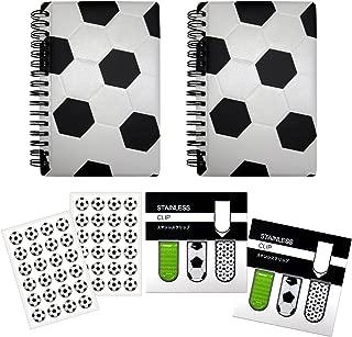 サッカー アートクリップ2セット+作戦ノート【A6サイズ】2冊+シール2枚 プライム