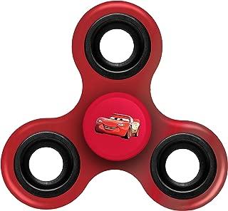 FOCO Disney Cars Diztracto Spinnerz Three Way Set-McQueen Spinner Toy, Red, 3