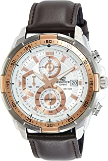 Casio Mens Quartz Watch, Chronograph Display and Leather Strap EFR-539L-7AVUDF
