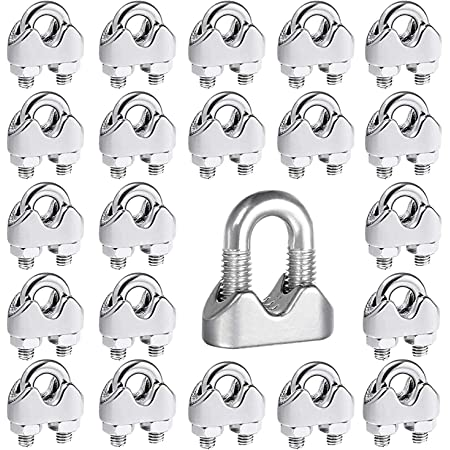 100pc x 10mm Wire Rope Grips Clamps U Bolts Fitting Cable Cord Tie
