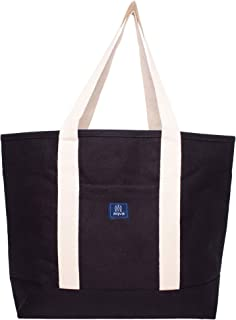 AQVA Women's Cotton Canvas Tote Bags - Large & Durable Multipurpose Shoulder Handbag - Perfect for Shopping, Travel, Offic...
