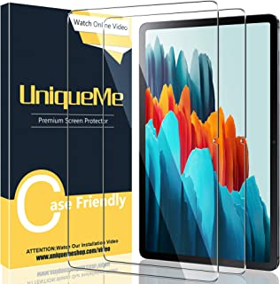 [2 Pack] UniqueMe Tempered Glass Screen Protector Compatible for Samsung Galaxy Tab S7 11.0 inch, 9H Hardnes HD Clear Film...