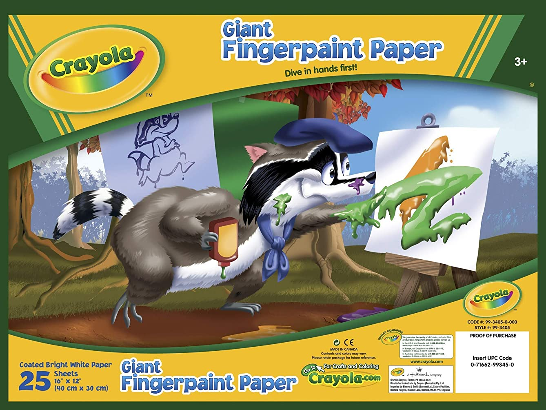 Bulk Buy: Crayola Giant Fingerpaint Paper Pad 16