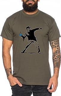 WhyKiki Camiseta de Hombre Banksy Walter Heisenberg Golden Moth Breaking Chemical Motte Bad Chemistry