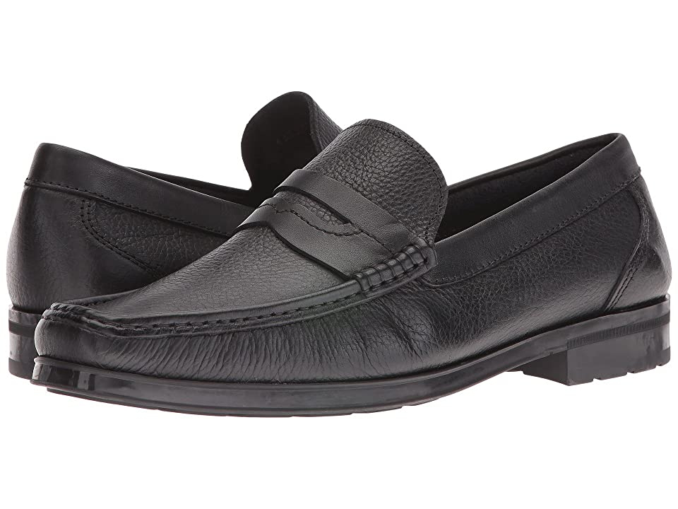 Florsheim Westbrooke Penny Loafer (Black Milled/Black Suede) Men's Slip on Shoes