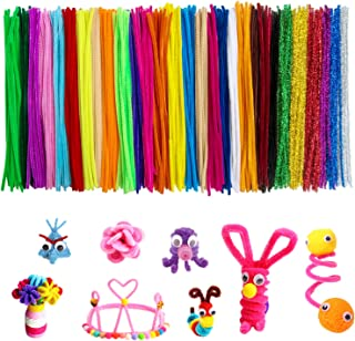Acerich 600 Pcs Pipe Cleaners 30 Colors Chenille Stems for Christmas DIY Art Craft Decorations (6 mm x 12 Inch)