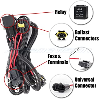 XtremeVision Universal HID Battery Wiring Relay Harness 12V 40 AMP 35W/55W - H1 H3 H7 H8 H9 H10 H11 9005 9006 5202 880 881 9140 9145