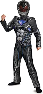 Disguise Ranger Movie Classic Muscle Costume, Black, Large (10-12)