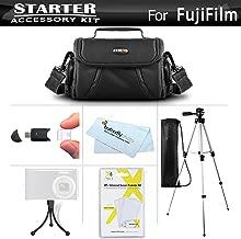 Accessories Kit For Fuji Fujifilm FinePix SL300, S8200 S8300 S8400 S8500, S9800 S9900W SL1000, HS50EXR, X100S, X20, X-M1, X-E2, S8600, S9200, S9400W, S1, X-T1, X30, X-A3, X-T2, X-PRO2, X-T1 IR Camera