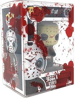 4Hrse – Protector de plástico transparente con diseño de plato de sangre, para figuras de 3.9in, Paquete de 20