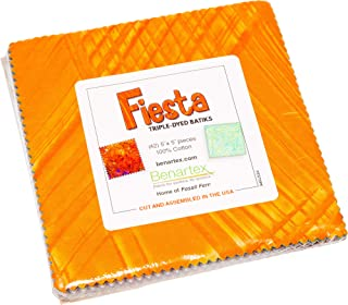 Bali Batik Fiesta 5X5 Pack 42 5-inch Squares Charm Pack Benartex